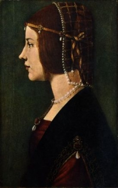 Beatrice dEste by Leonardo da Vinci and Giovanni Ambrogio de Predis