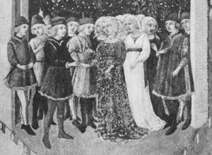 Die Hochzeit von Roberto da Sanseverino und seiner dritten Gattin Lucrezia Malavoiti