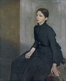Portrait of a Young Woman. The Artists Sister Anna Hammershoi