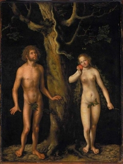 Adam and Eve(Lukas Cranach St., Adam i Ewa, 1508-1512) Lucas Cranach the Elder National Museum in Warsaw, Poland