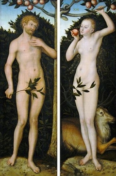 Adam and Eve 1533-37 Charles H. and Mary F.S. Worcester Collection