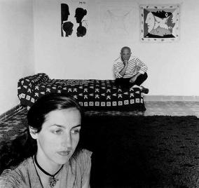 Picasso et Francoise Gilot 1952