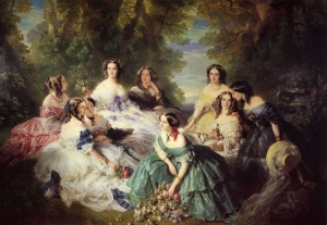 Franz Xaver Winterhalter The Empress Eugenie Surrounded by her Ladies in Waiting 1855 Château de Compiègne