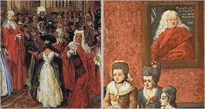 Alexandre Serebriakoff Ballo offerto da Charles de Beistegui  palazzo sul Canal Grande Venezia, Palazzo Labia, 3 settembre 1951,Pietro Longhi(1702 - 1785) La famiglia Michiel 1780 ca