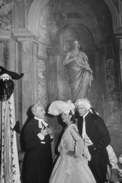Le Bal oriental, at the Palazzo Labia Cecil Beaton and friends attending the costume ball by Cornell Capa