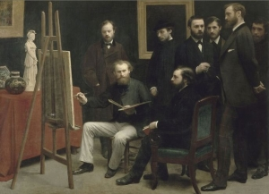 Un atelier aux Batignolles 1870