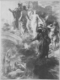 Henri Fantin-Latour, Finale from Das Rheingold, c. 1877. Lithograph