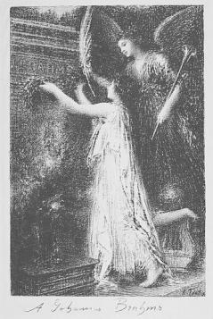 A Johannes Brahms (grande planche) by Henri Fantin-Latour