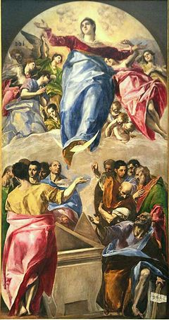 The Assumption of the Virgin, El Greco, 1577-79 Art Institute of Chicago