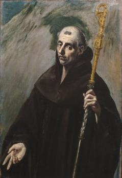 Saint Benedict by El Greco  Museo Nacional del Prado