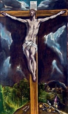El Greco, The Crucifixion, 1610-1614, oil on canvas, Toledo, Museo de Santa Cruz (Depósito de la Parroquia de San Nicolas de Bari, Toledo).