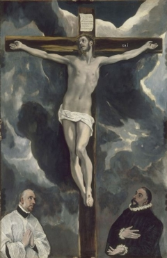 Christ on the Cross Adored by Two Donors c. 1580 Louvre, Paris