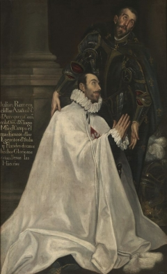 Julian Romero and his patron saint. Painting by El Greco.