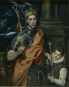 El Greco: Saint Louis, King of France, and a Page, 1590-97