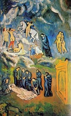 Evocación ? El entierro de Casagemas.1901 by Picasso