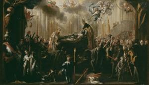 Entierro del señor de Orgaz (1734) por Miguel Jacinto Meléndez