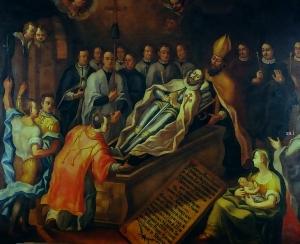 Anónimo .- El Entierro del Señor de Orgaz Casa de los Condes de Orgaz. Ávila