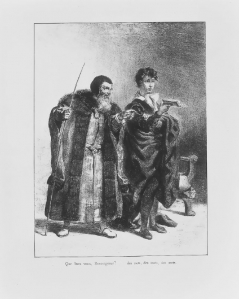 Act II, scene ii. Hamlet and Polonius. No date