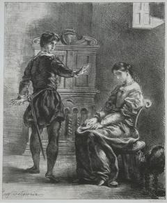 Act III, scene i. Hamlet reproaches Ophelia. No date