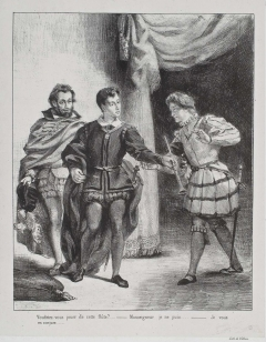 Act III, scene ii. Hamlet and Guildenstern. No date.