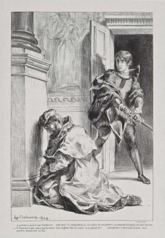 Act III, scene iii. Hamlet comes upon the king at prayer. 1843