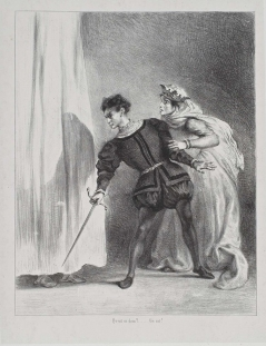 Act III, scene iv. The murder of Polonius. No date