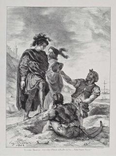 Act V, scene i. Hamlet and Horatio with the gravediggers. 1843
