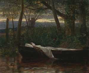 Walter Crane, The Lady of Shalott (1862) Yale Center for British Art, Paul Mellon Fund