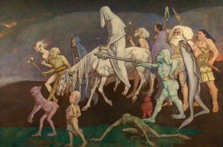 The Fomors (or The Power of Evil Abroad in the World) by John Duncan Dundee Art Galleries and Museums Collection (Dundee City Council)