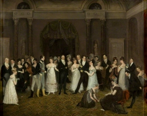 The Cloak Room, Clifton Assembly Rooms c 1817-18, The Stoppage of the Bank