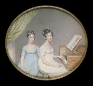 Miss Harriet and Miss Elizabeth Binney 1806 by John Smart  V&A