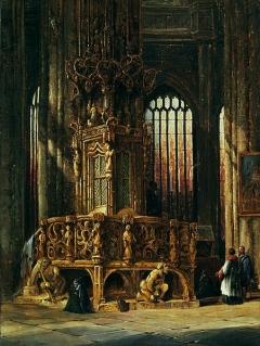 Henry Thomas Schäfer Inneres der St-Lorenz-Kirche Nürnberg mit Sakramentshaus