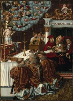The Mystic Mass of Saint Gregory with Cardinal Albrecht von Brandenburg Master from the workshop of Lucas Cranach the Elder