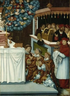 The Mystic Mass of Saint Gregory with Cardinal Albrecht von Brandenburg