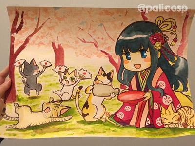 卯花月の猫宴用原画