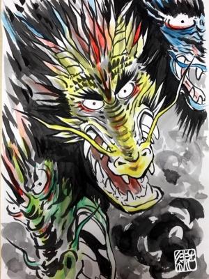 緋呂さん 龍画