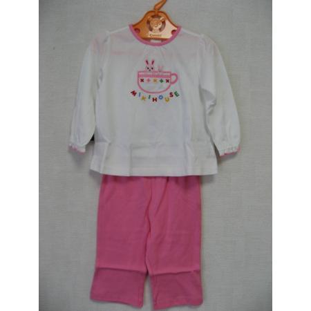 ミキハウス 新品・タグ付き!マスコット付きで可愛い長袖パジャマ 90