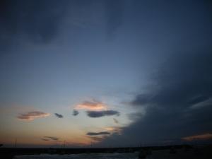 本日の日没風景
