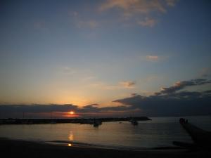本日もいつも通り美しい夕陽