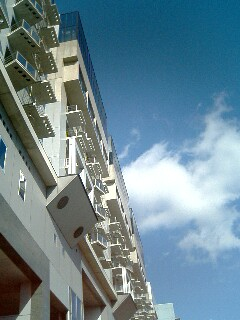 空は真冬の青さ