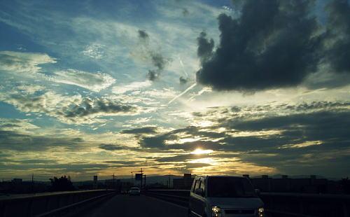 隠元橋から見た夕焼け