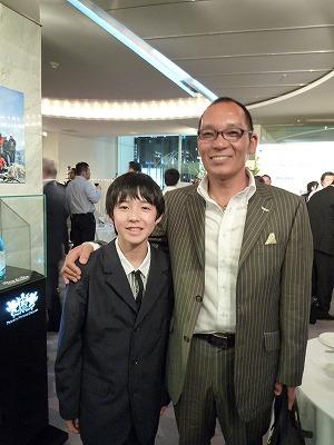 主演の中村大地くんと企画・製作の内田社長