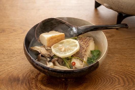魚介レモン鍋できあがり
