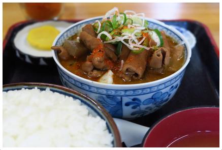 永井食堂の「もつ煮定食」