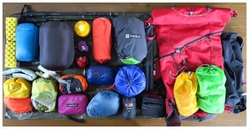 テント泊装備品