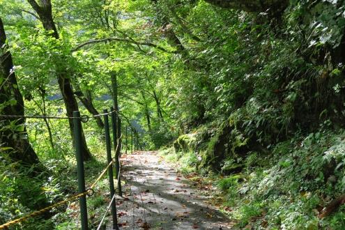 黒薙温泉旅館への路