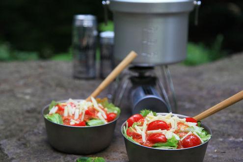丸鍋とタコライス