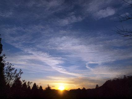 キャンピングヒルズ鴨川の夕日