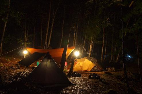 廻り目平キャンプ場 夜