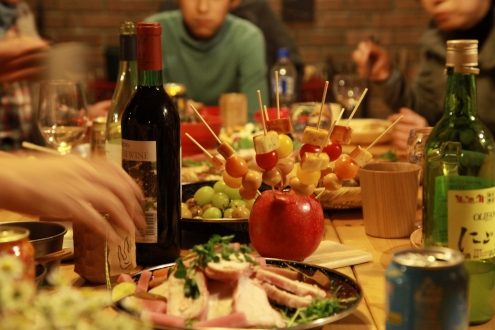 晩餐会の様子
